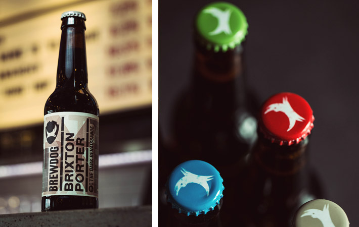 BrewDog Brixton Porter and Bottle Tops