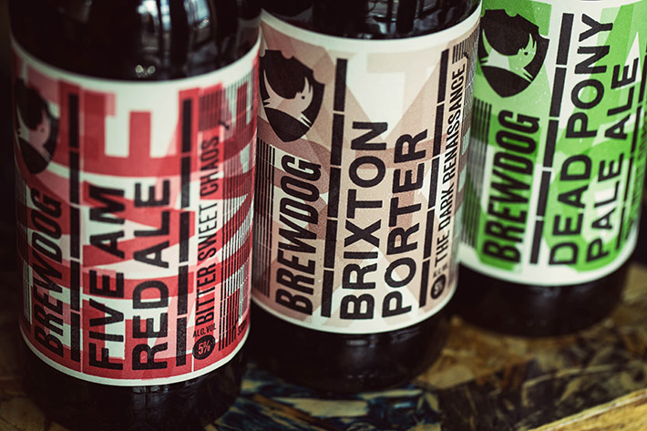 BrewDog labels close-ups