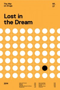 The War on Drugs - Lost in the Dream album poster by Swiss Ritual