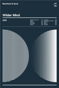 Mumford & Sons - Wilder Minds album poster by Swiss Ritual